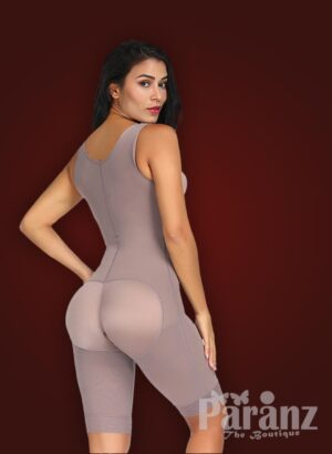3 row hook closure sleeveless full body shaper with open stall new side view