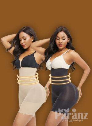 On-core mid-thigh body shaper with perfect tummy control and butt lifter new
