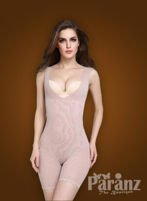 Open-bust style beautiful mauve underwear body shaper new